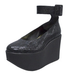 BELLY BUTTON No.211 / Black Snake Ankles Platforms