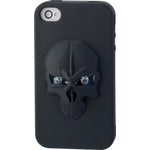 iPhone 4/4S Skull Silicone Case - Black