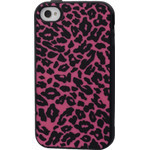 iPhone 4/4S Animal Silicone Case - Pink Leopard