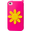 iPhone 4/4S Flower Silicone Case - Pink x Yellow