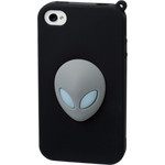 iPhone 4/4S Alien Silicone Case - Gray