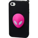 iPhone 4/4S Alien Silicone Case - Pink