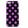 iPhone 5 TPU Polka Dot Shell Case - Black x Pink