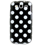 GALAXY S3 TPU Shell Case - Polka Dot Black x White
