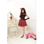 AKIBA-style Frilled Checker Camisole Dress