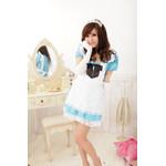 Alice in Wonderland Puff Sleeve Maid Cosplay Costume - Blue