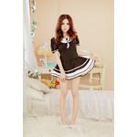 Puff Sleeve Japanese High-School Uniform-Style Cosplay Costume Dress