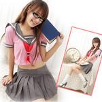 Japanese High-School 'Sailor' Uniform-Style Cosplay Costume (Pink)