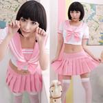Japanese High-School 'Sailor' Uniform-Style Cosplay Costume (Pink Basic)