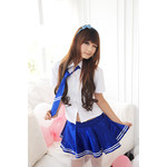 Japanese High-School Uniform-Style Cosplay Costume with Tie
