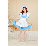Polka Dot Maid Cosplay Costume Set (Blue)