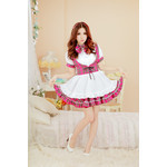 Checkered Maid Cosplay Costume Set