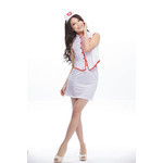 Open Back, Sleeveless Nurse Cosplay Costume