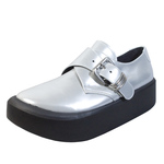 BELLY BUTTON No.8804 / Silver Monk Straps