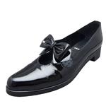 UNBILICAL No.250 / Black enameled leather