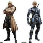 Square Metal Gear Solid Play Arts Kai Liquid Snake+Raiden Action Figure 2pcs Set