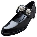 UNBILICAL No.253 / One-strap Black enameled leather