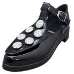 UNBILICAL No.254 / Black enameled leather