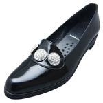 UNBILICAL No.255 / Black enameled leather