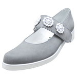 UNBILICAL No.953 / Gray nubuck One-strap shoes