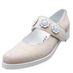 UNBILICAL No.953 / Pink nubuck One-strap shoes