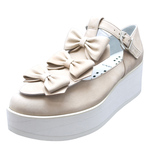 UNBILICAL No.156 / Pink-nubuck triple ribbons shoes