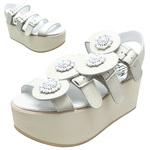 BELLY BUTTON No.933 / Ivory Platform sandals