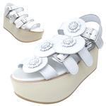 BELLY BUTTON No.933 / White Platform sandals