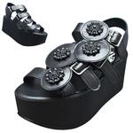 BELLY BUTTON No.933 / Black Platform sandals