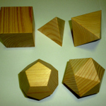 Wooden Platonic solids