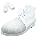 BELLY BUTTON No.280 / White hair and white high-cut shoes