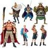 Bandai Tamashii Nations One Piece White Beard Pirates Chozoukei Damashii Toy Figures, Set of 8