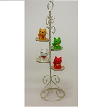 iwako Japanese Erasers, Cute four Lucky Cat. Cupcake Stand is equipped with.