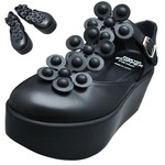 TOKYO BOPPER No.125 / Black Smooth leather Platforms