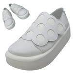 TOKYO BOPPER No.876 /  White smooth dot shoes