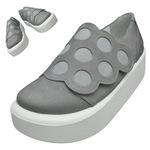 TOKYO BOPPER No.876 /  Gray nubuck dot shoes