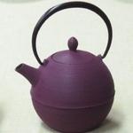 Nambu Ironware (teapot) the rising‐sun- Deep purple
