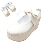 TOKYO BOPPER No.126 / Ivory smooth ribbon shoes