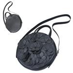 TOKYO BOPPER No.11181/ Real leather Round bag Flower / Black