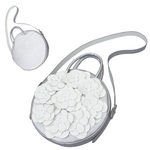 TOKYO BOPPER No.11181/ Real leather Round bag Flower / Silver
