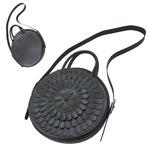 TOKYO BOPPER No.11183/ Real leather Round bag Milk-crown / Black