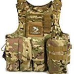 MIXTIO? tactical vest Molle system 4 colors NAVY seals patches special forces survival game body armor one size fits all adjustable various equipment storage with available (SEALs MultiCam)