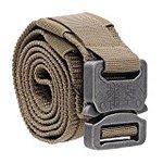 Handtoy tactical belt outdoors sabage belt buckle tactical belts men's survival game MOLLE System (Brown, M)