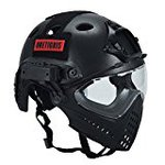 OneTigris face protection helmet PJ type helmet military style original mask & goggles included integrated removal Multifunction (black)