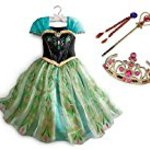 CREDIBLE Ana and snow Queen Ana wind child costume Deluxe 5 pieces (Princess dresses, braid wig, tiara, magic stick, CREDIBLE? original) 110 cm TO341A