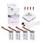 Holy Stone 3.7 V 650 mAh Lipo 4 in 1 charger 1 PCs with 4 batteries set battery For Holy Stone HS200 overload, & discharge protection function with 2.5 A rapid charger multicopter spare parts set