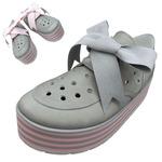 TOKYO BOPPER No.332 / Gray-nubuck - ribbon shoes