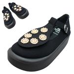 TOKYO BOPPER No.879 / Black & Gold bijou shoes